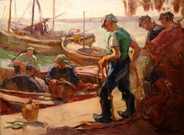 Los pescadores por antonio mengs juan zapato el - Pintores en asturias ...