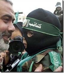 Lider Hamas con niño bomba