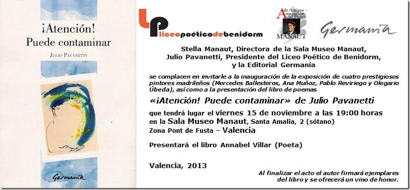 invitacion Libro de Julio en Valencia