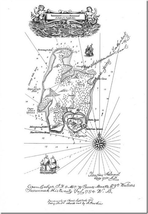 Mapa de la isla del tesoro Robert Louis Stevenson