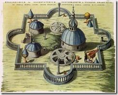 Diseño del Stjerneborg, el segundo observatorio de Brahe