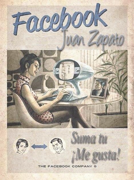 """Te invito a visitar la página de Juan Zapato en Facebook y cliquear en """"Me  gusta"""
