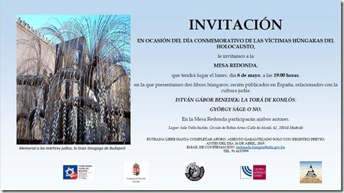 InvitaciónLaToráMadrid
